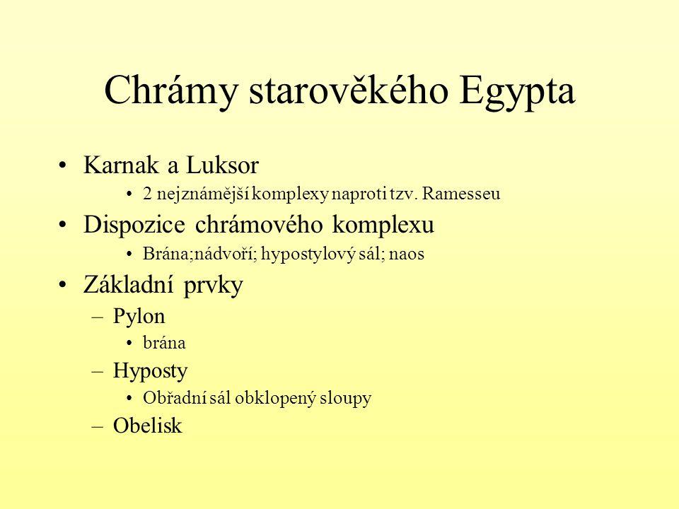 Chrámy starověkého Egypta