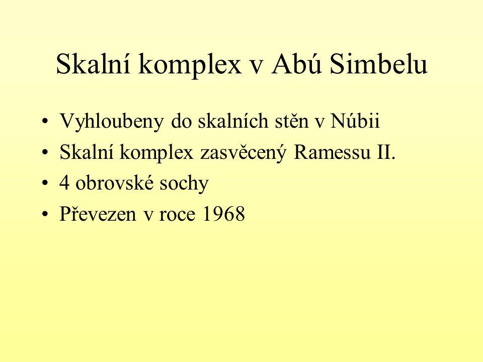 Skalní komplex v Abú Simbelu