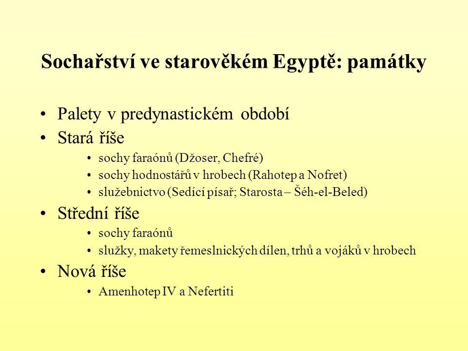 Sochařství ve starověkém Egyptě: památky