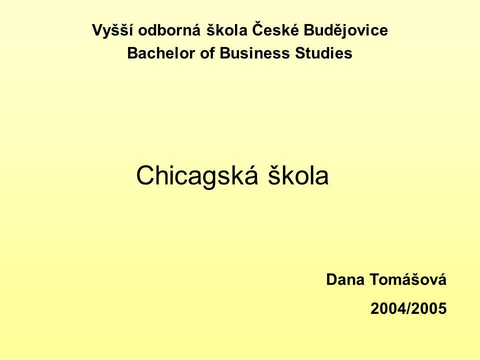 Vyšší odborná škola České Budějovice Bachelor of Business Studies