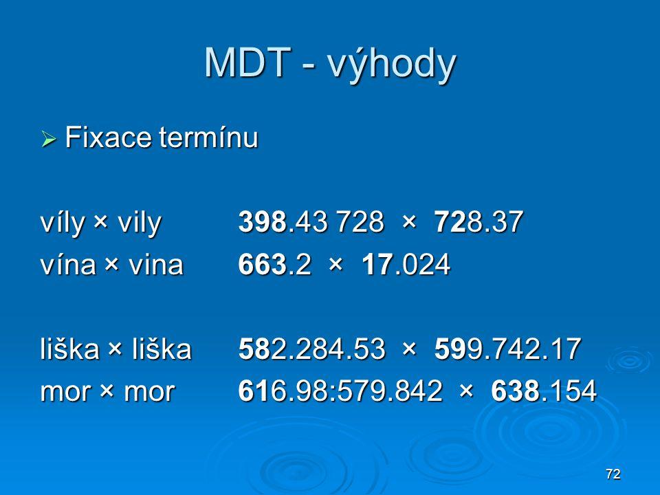 MDT - výhody Fixace termínu víly × vily 398.43 728 × 728.37