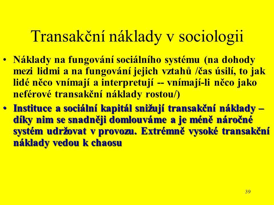 Transakční náklady v sociologii