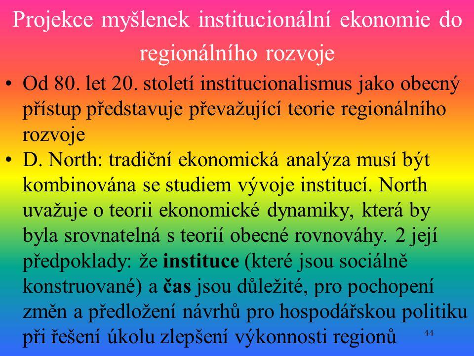Projekce myšlenek institucionální ekonomie do regionálního rozvoje