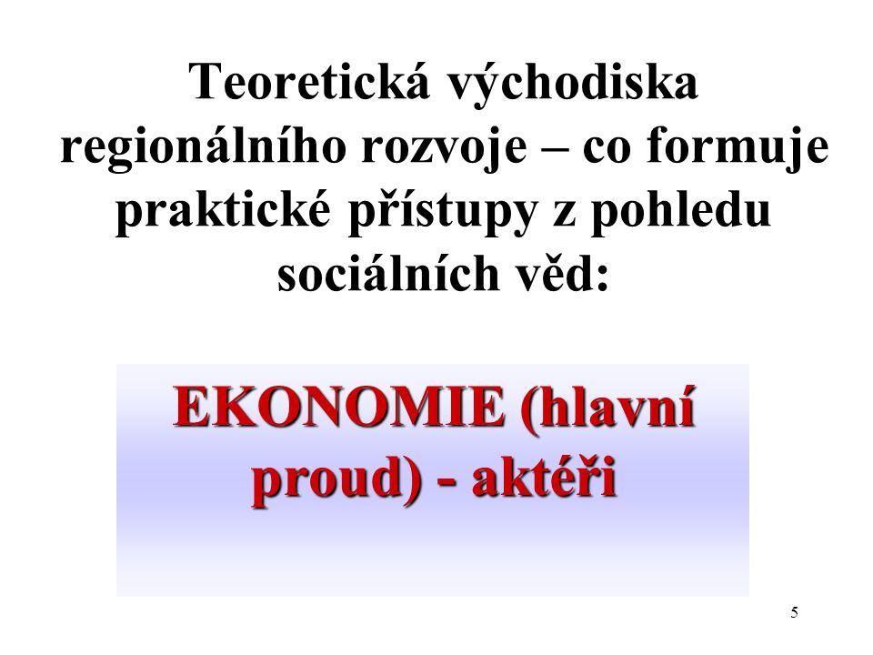 EKONOMIE (hlavní proud) - aktéři