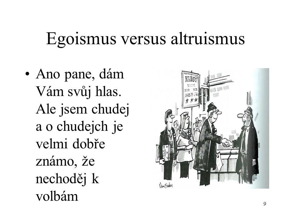 Egoismus versus altruismus