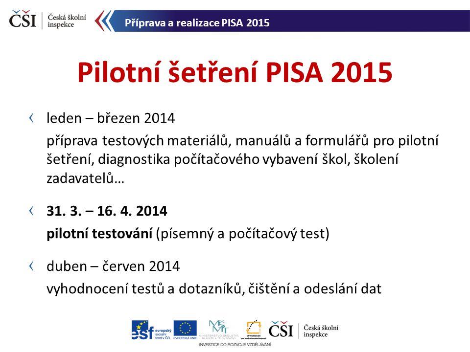Pilotní šetření PISA 2015 leden – březen 2014