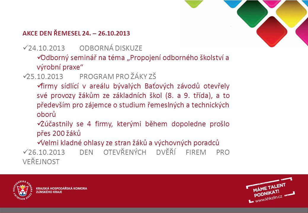 """Odborný seminář na téma """"Propojení odborného školství a výrobní praxe"""