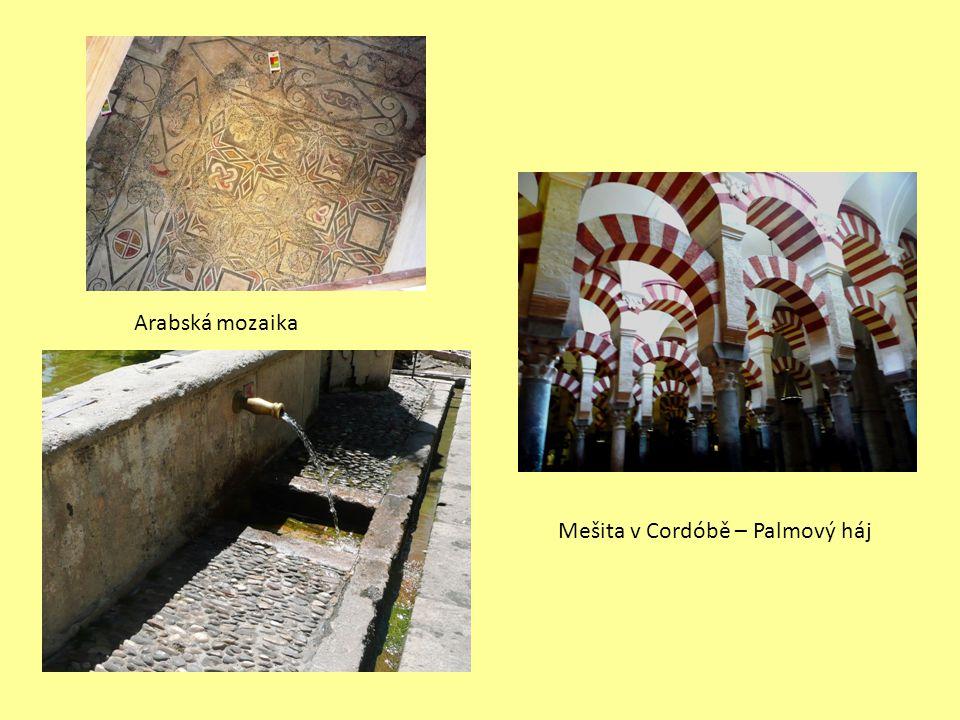 Arabská mozaika Mešita v Cordóbě – Palmový háj