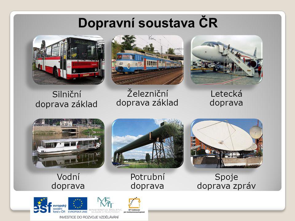 Dopravní soustava ČR Silniční doprava základ Železniční doprava základ
