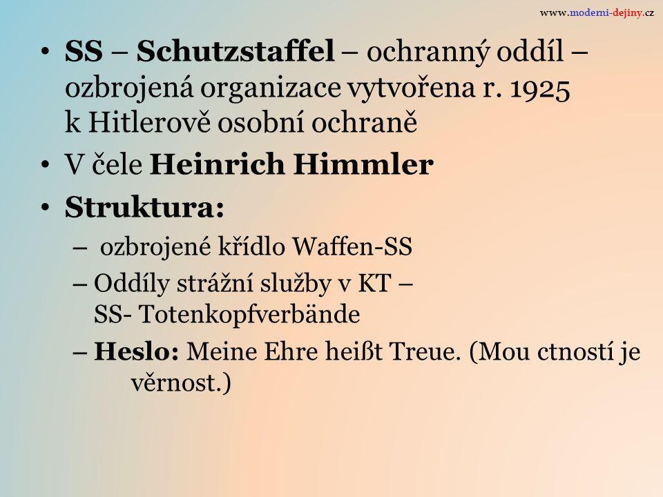 V čele Heinrich Himmler Struktura: