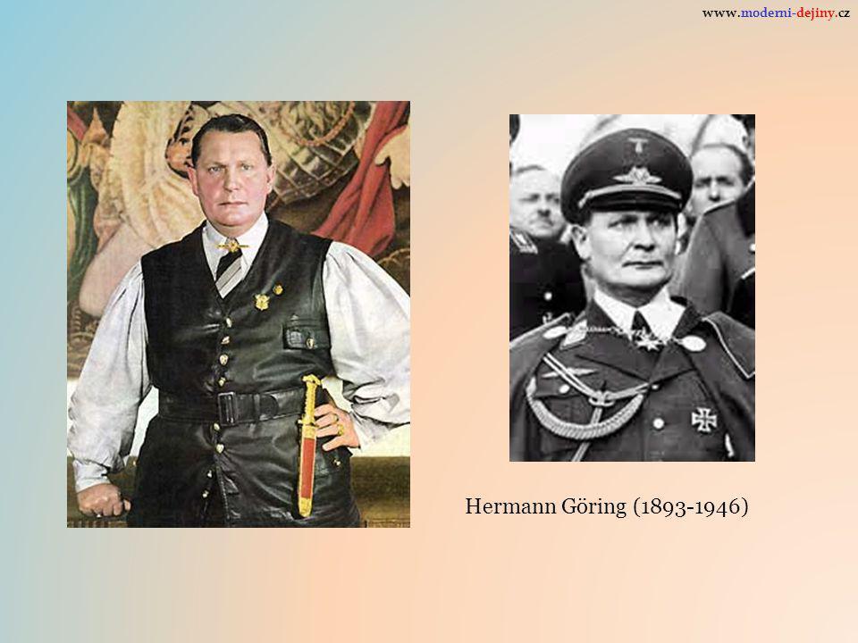www.moderni-dejiny.cz Hermann Göring (1893-1946)
