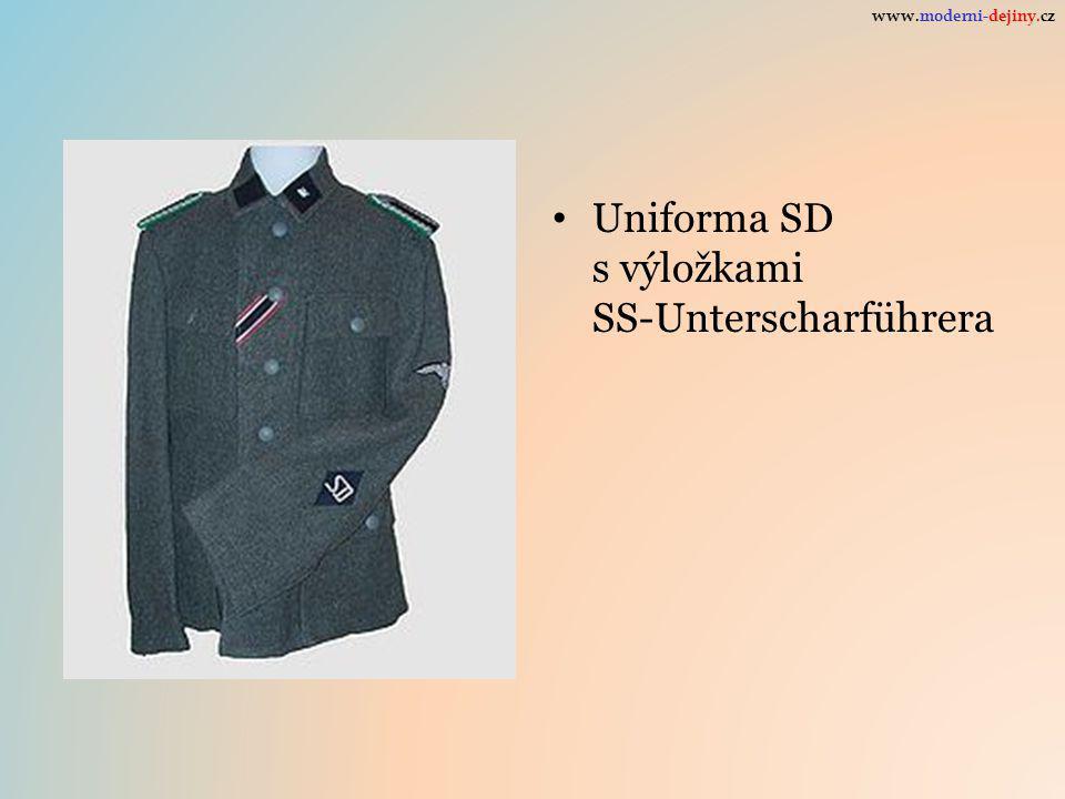 Uniforma SD s výložkami SS-Unterscharführera