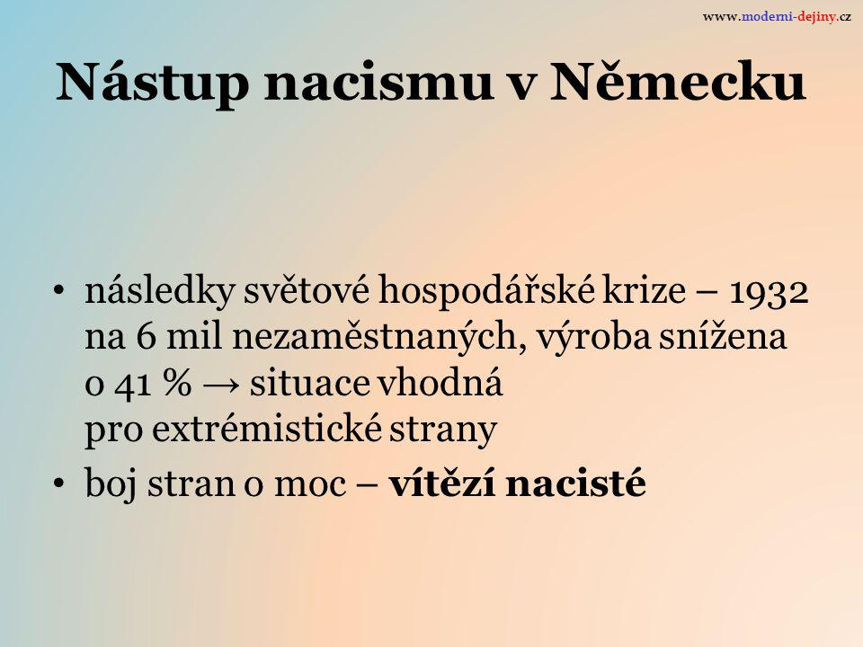 Nástup nacismu v Německu