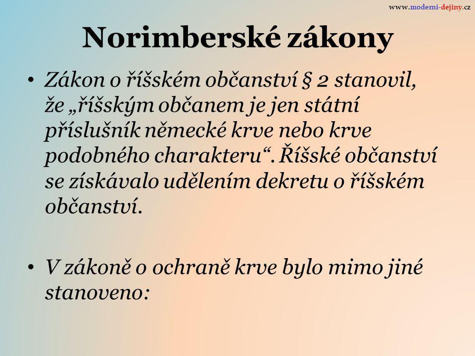 www.moderni-dejiny.cz Norimberské zákony.