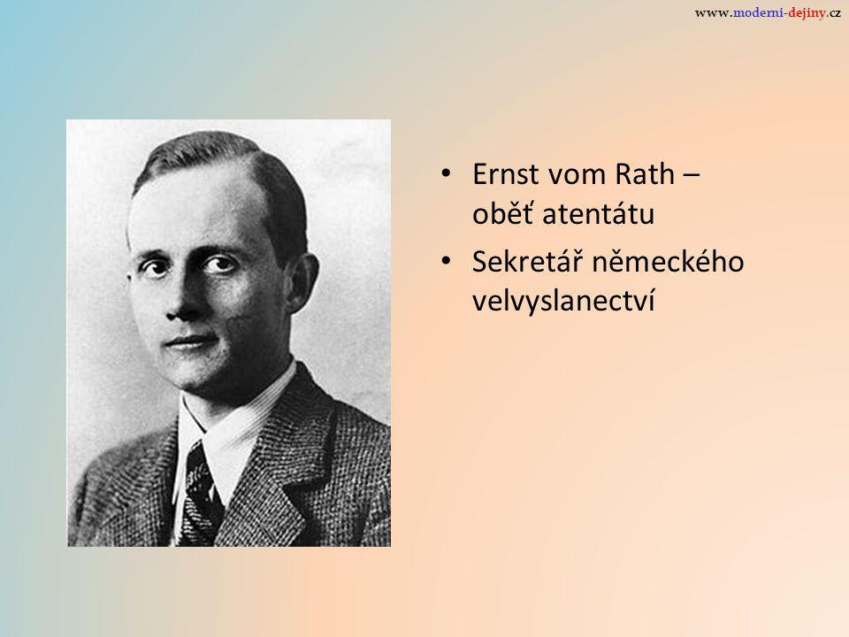 Ernst vom Rath – oběť atentátu Sekretář německého velvyslanectví