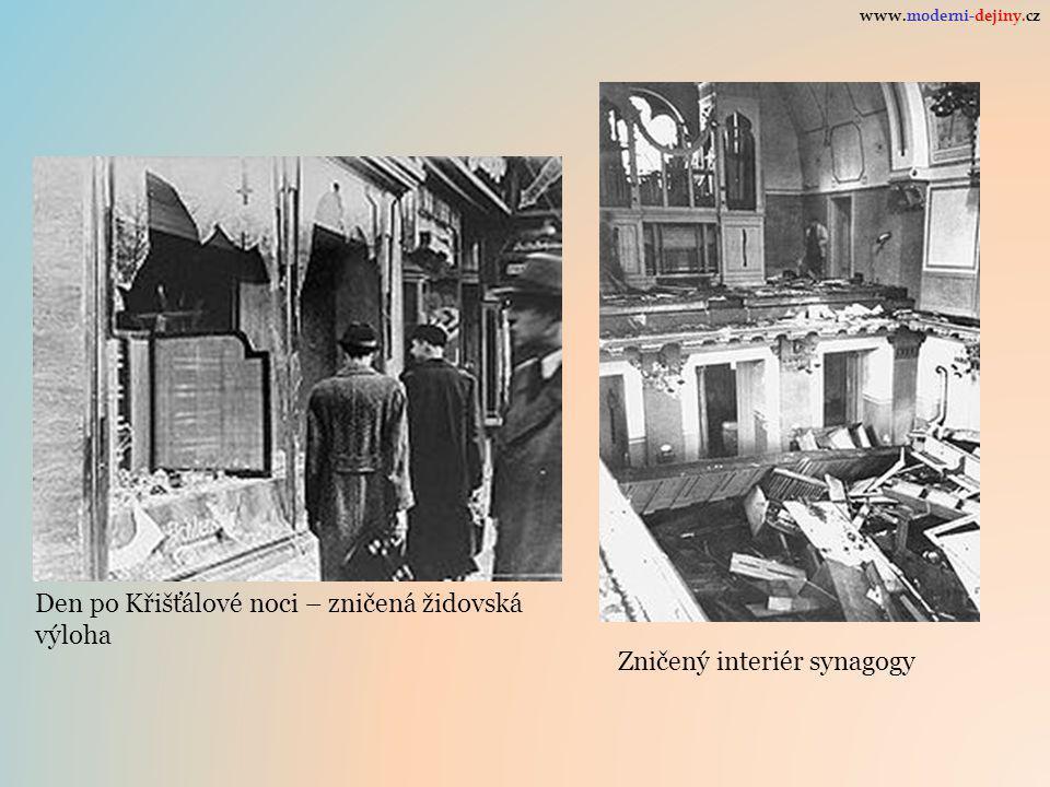 Den po Křišťálové noci – zničená židovská výloha