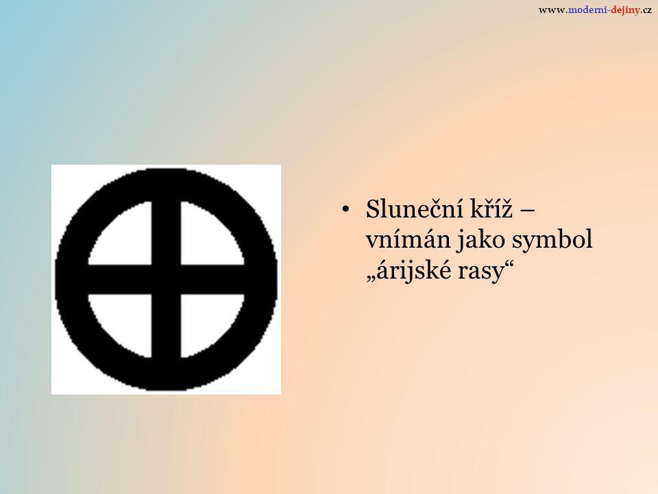 """Sluneční kříž – vnímán jako symbol """"árijské rasy"""