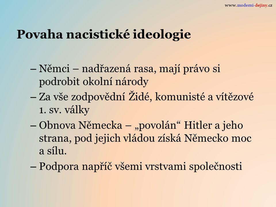 Povaha nacistické ideologie