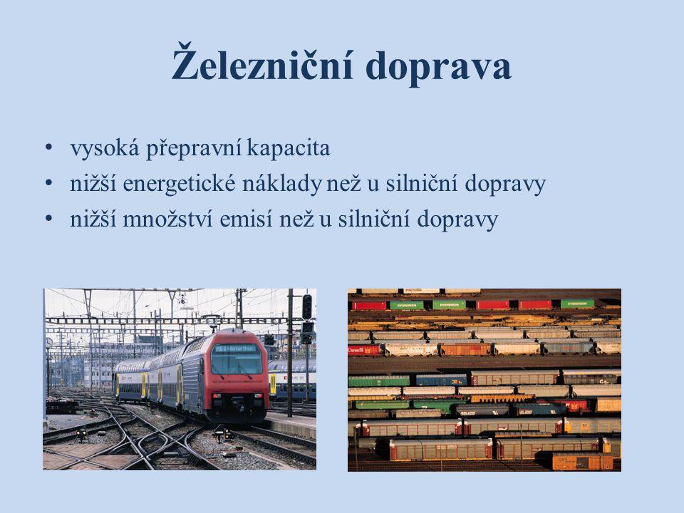 Železniční doprava vysoká přepravní kapacita