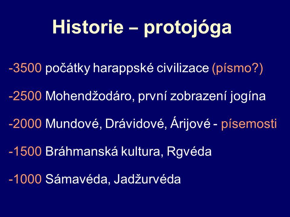 Historie – protojóga -3500 počátky harappské civilizace (písmo )