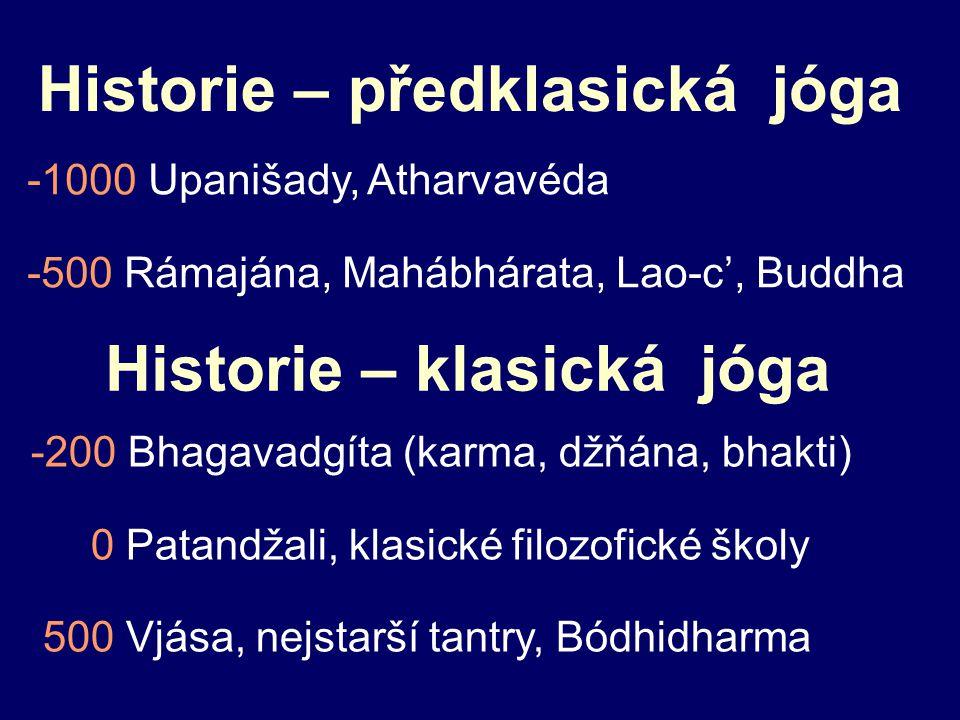 Historie – předklasická jóga