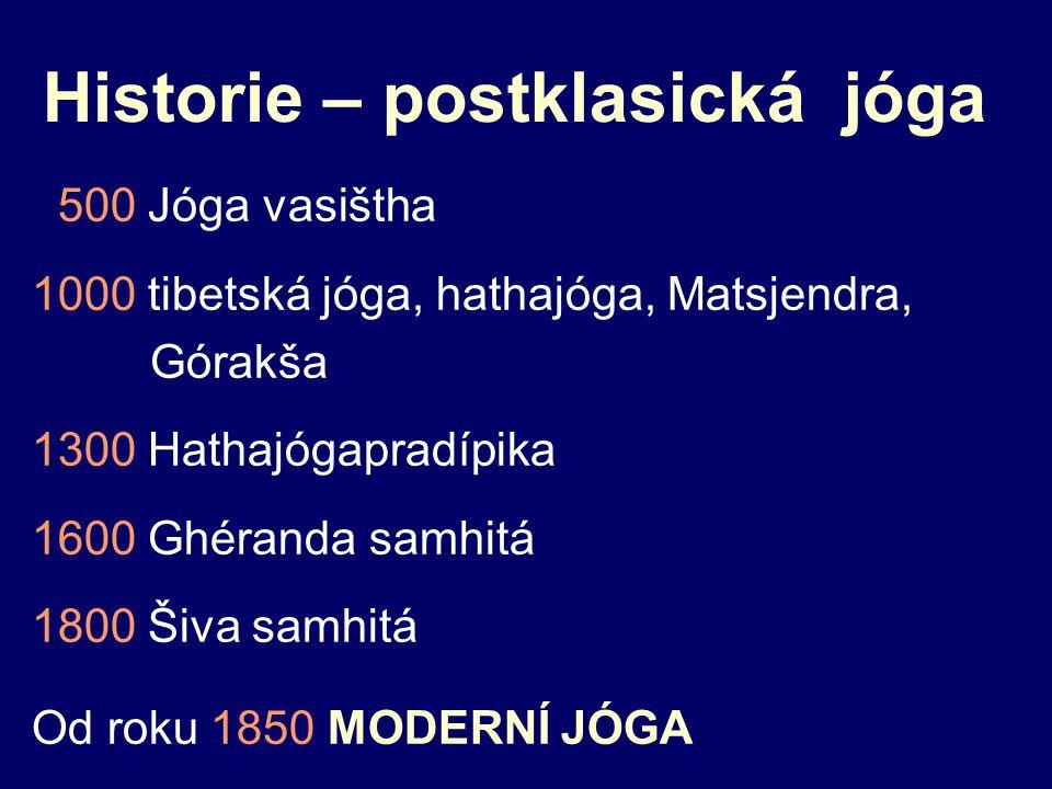 Historie – postklasická jóga