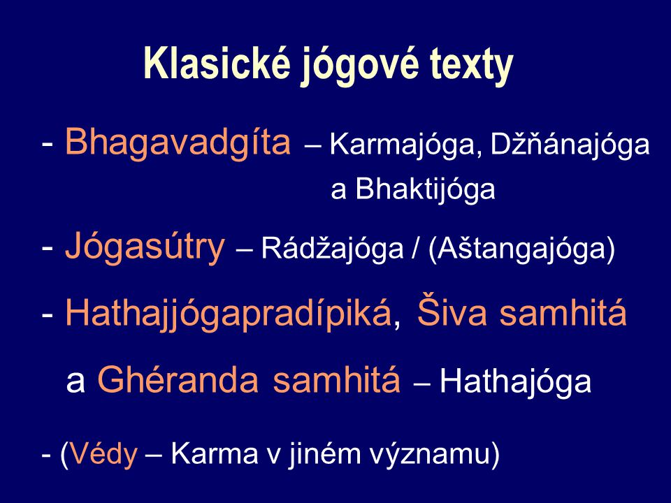 Klasické jógové texty - Bhagavadgíta – Karmajóga, Džňánajóga