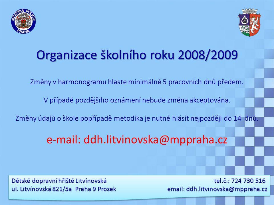 Organizace školního roku 2008/2009