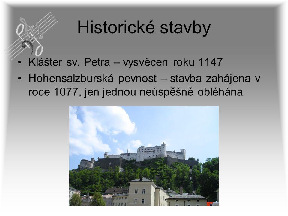 Historické stavby Klášter sv. Petra – vysvěcen roku 1147