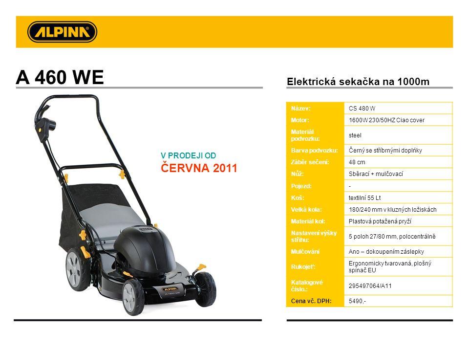 A 460 WE Elektrická sekačka na 1000m V PRODEJI OD ČERVNA 2011 Název: