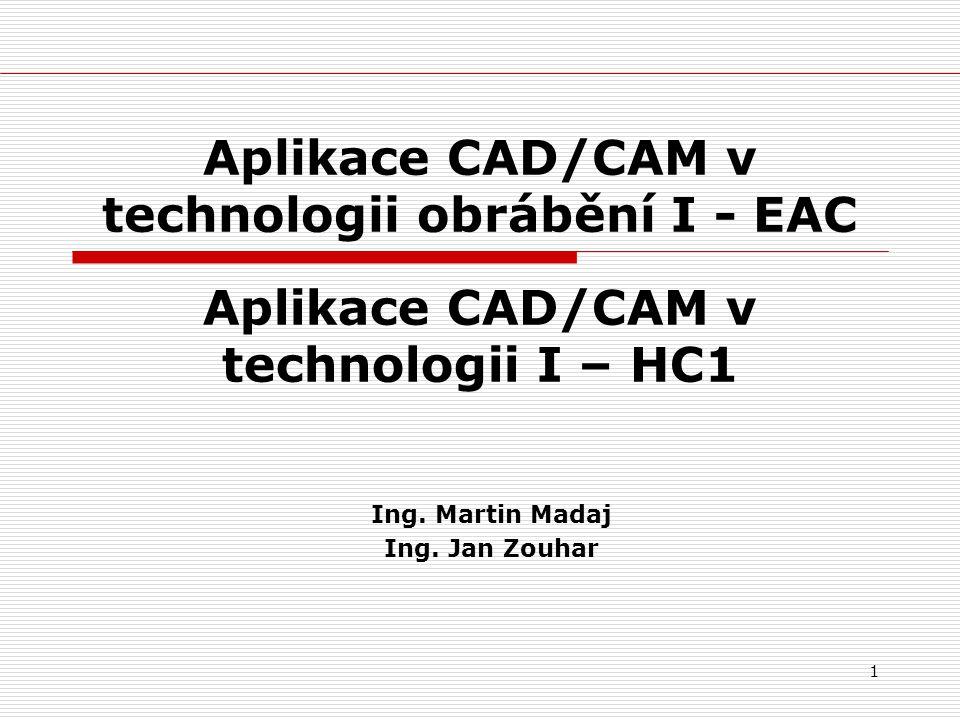 Aplikace CAD/CAM v technologii obrábění I - EAC