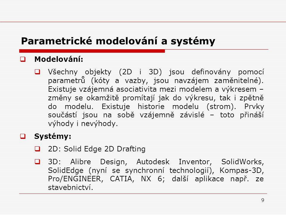 Parametrické modelování a systémy