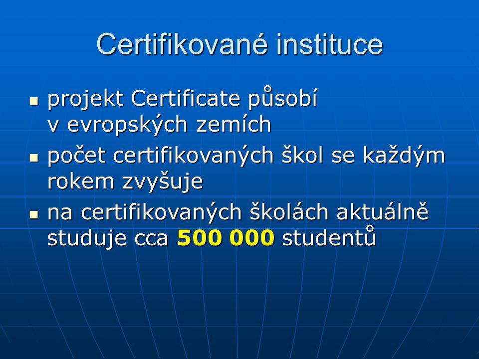 Certifikované instituce