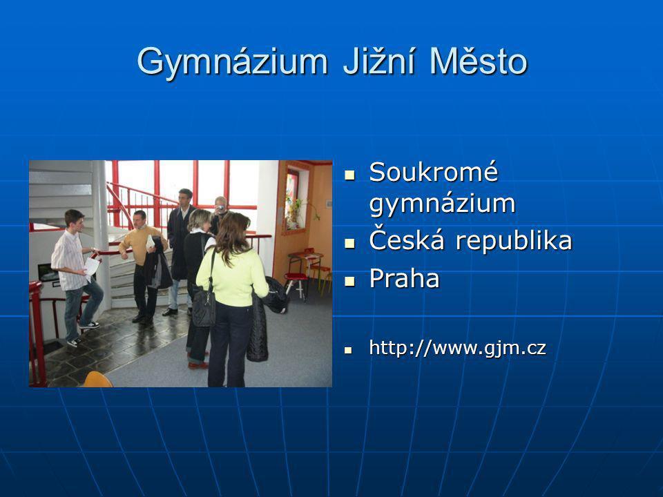 Gymnázium Jižní Město Soukromé gymnázium Česká republika Praha