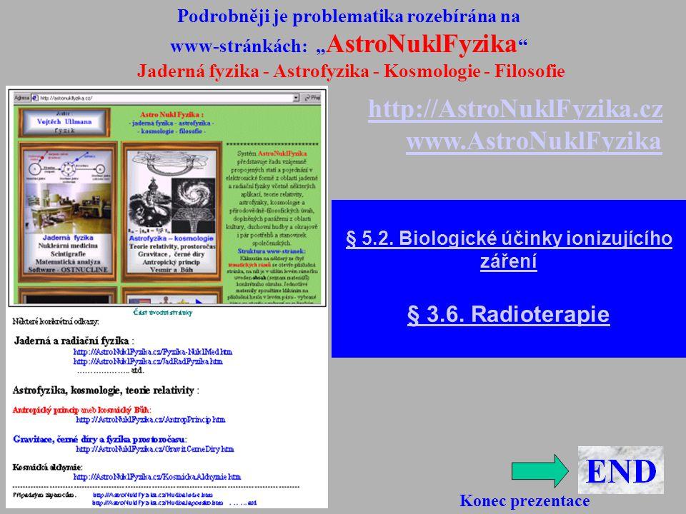 http://AstroNuklFyzika.cz www.AstroNuklFyzika § 3.6. Radioterapie
