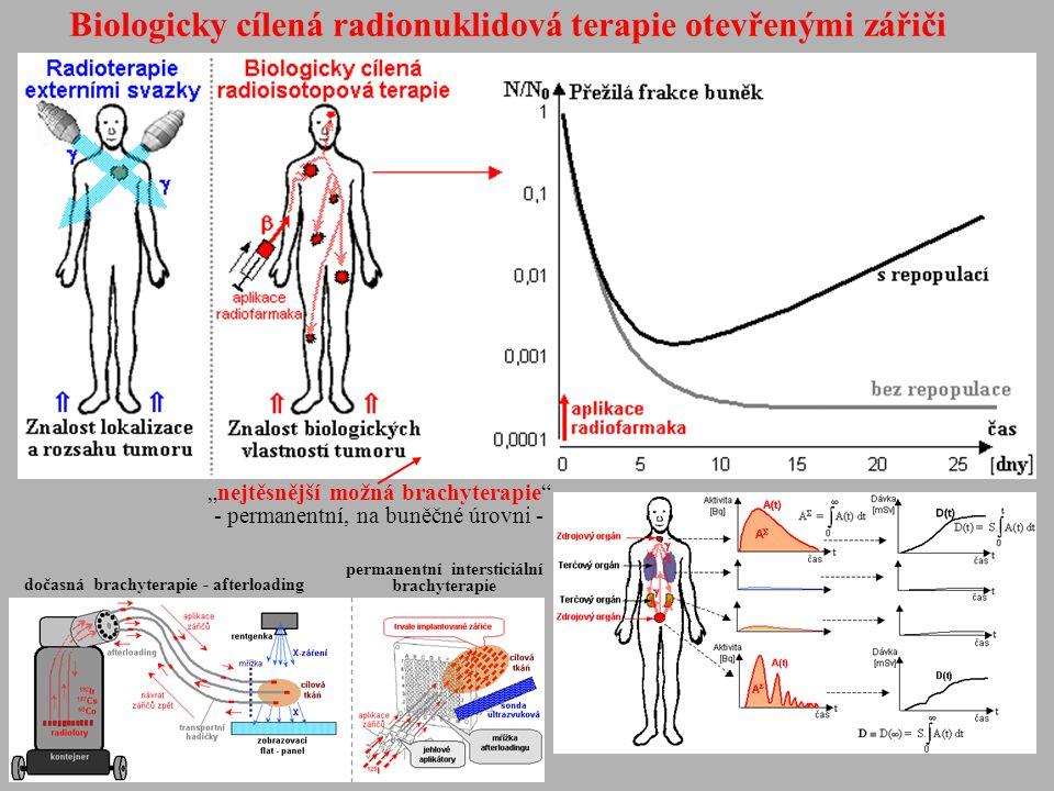 Biologicky cílená radionuklidová terapie otevřenými zářiči