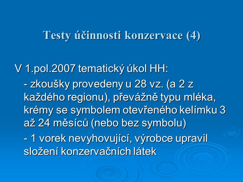 Testy účinnosti konzervace (4)