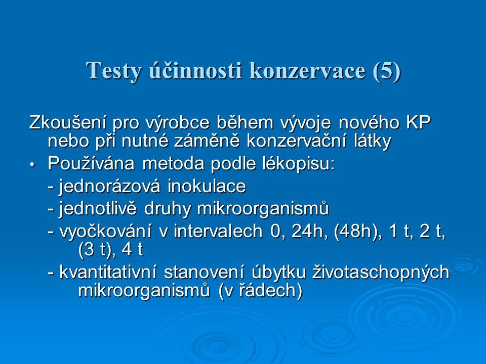 Testy účinnosti konzervace (5)