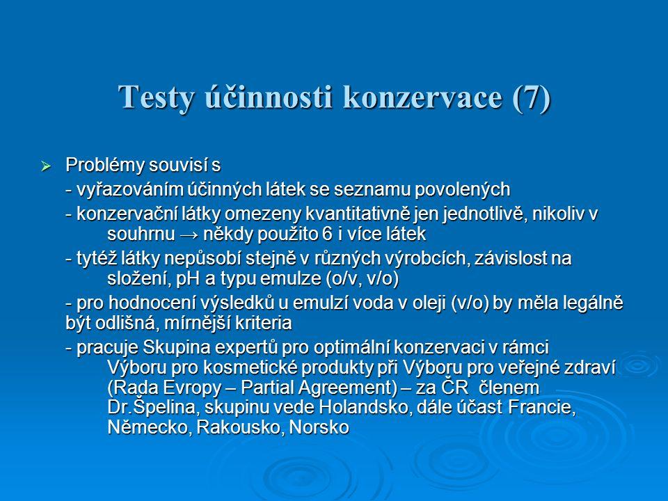 Testy účinnosti konzervace (7)