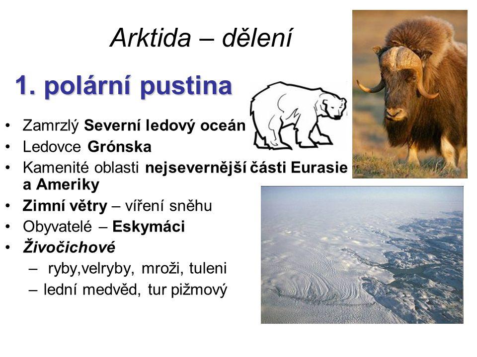 Arktida – dělení 1. polární pustina