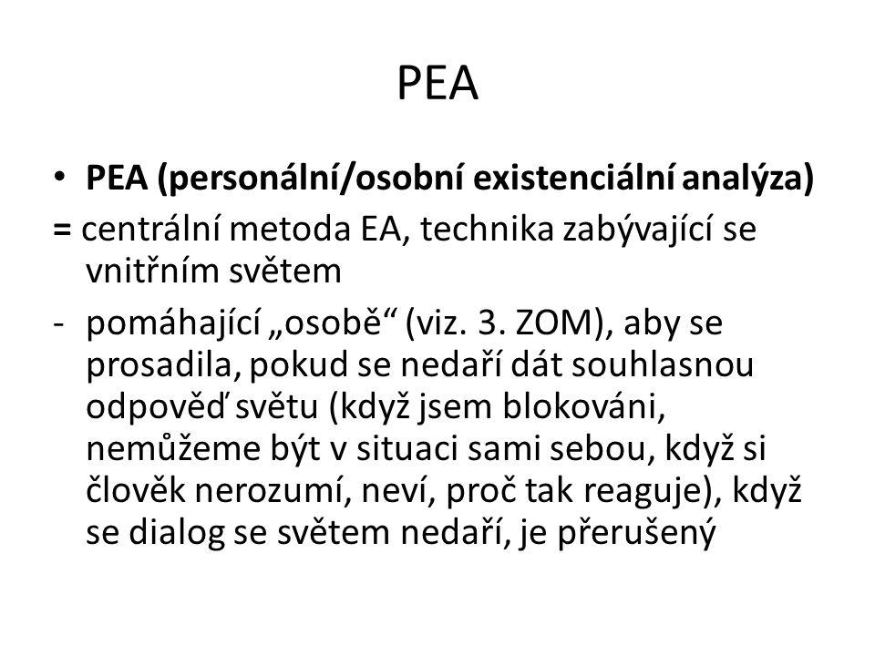 PEA PEA (personální/osobní existenciální analýza)