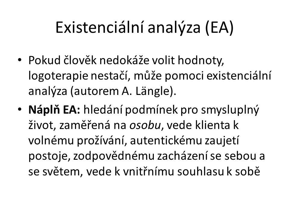 Existenciální analýza (EA)