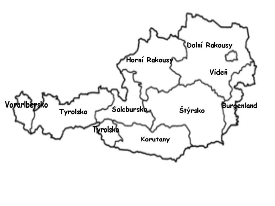 Politická geografie Rakousko rozděleno na 9 spolkových zemí, rozděleny na 84 okresů a 15 statutárních měst.