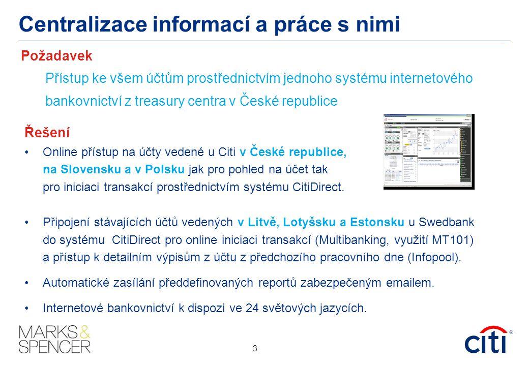 Centralizace informací a práce s nimi