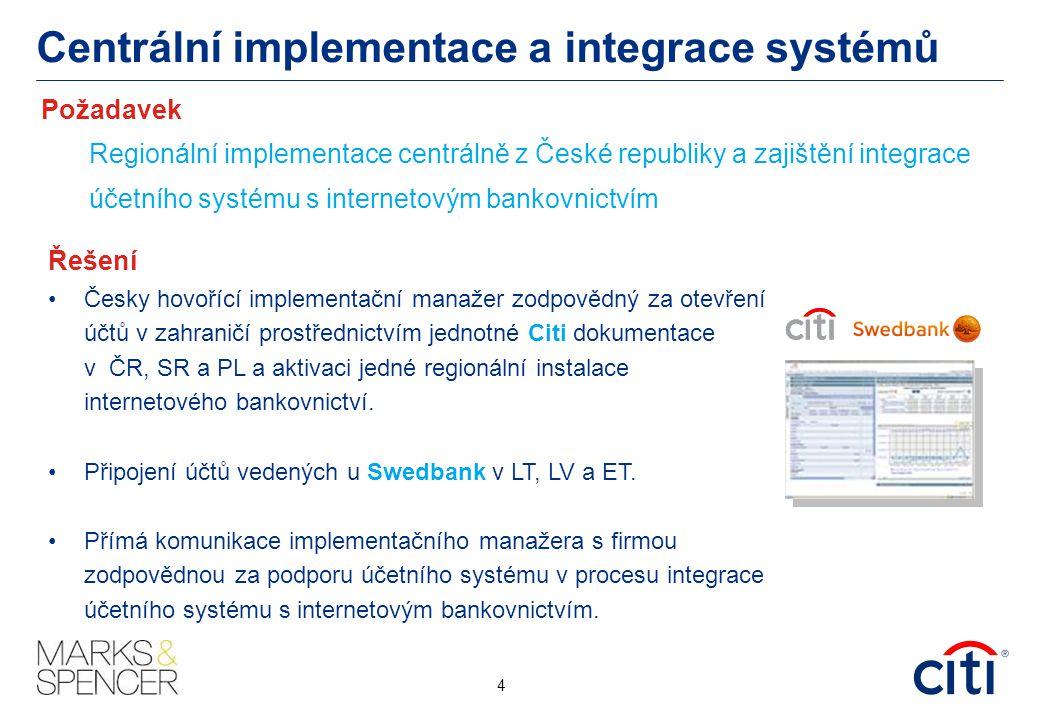 Centrální implementace a integrace systémů