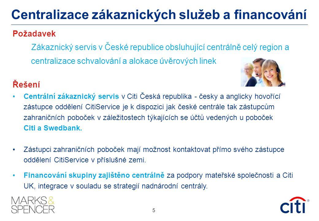 Centralizace zákaznických služeb a financování