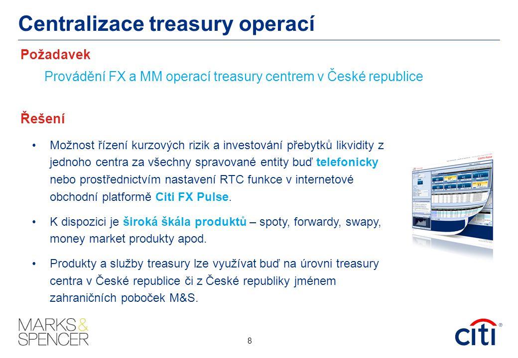 Centralizace treasury operací