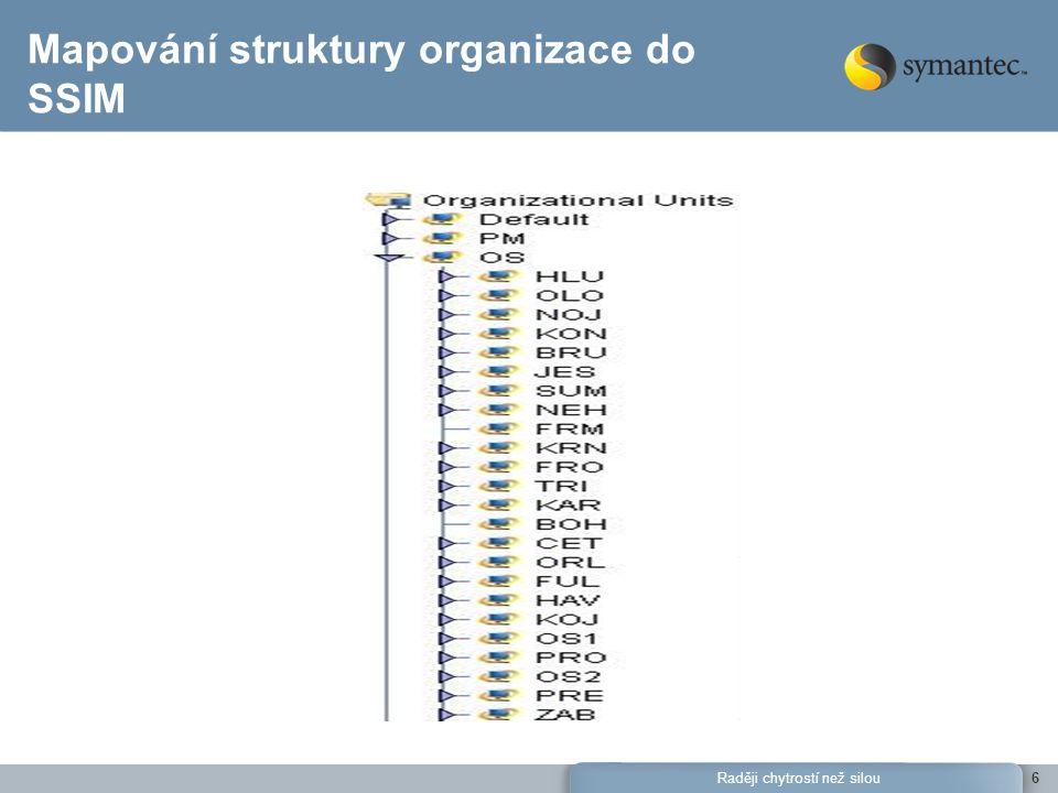 Mapování struktury organizace do SSIM
