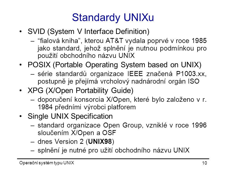 Standardy UNIXu SVID (System V Interface Definition)