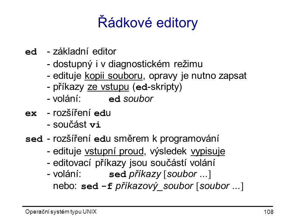 Řádkové editory
